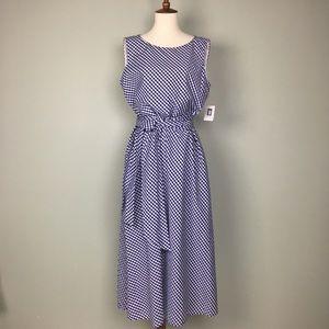 Anne Klein Gingham Sleeveless Dress Size 10